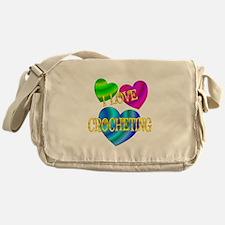 I Love Crocheting Messenger Bag