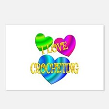 I Love Crocheting Postcards (Package of 8)