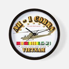 Ah-1 - Cobra W Vn Svc Ribbons Wall Clock