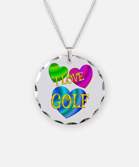 I Love Golf Necklace