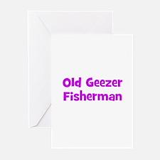 Old Geezer Fisherman Greeting Cards (Pk of 10)