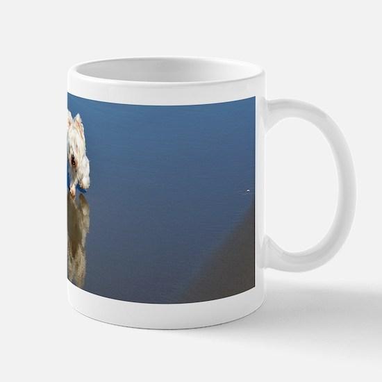 Westie Beach Reflection Mugs
