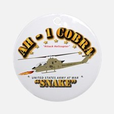 AH-1 Cobra - Snake Round Ornament
