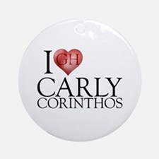 I Heart Carly Corinthos Round Ornament