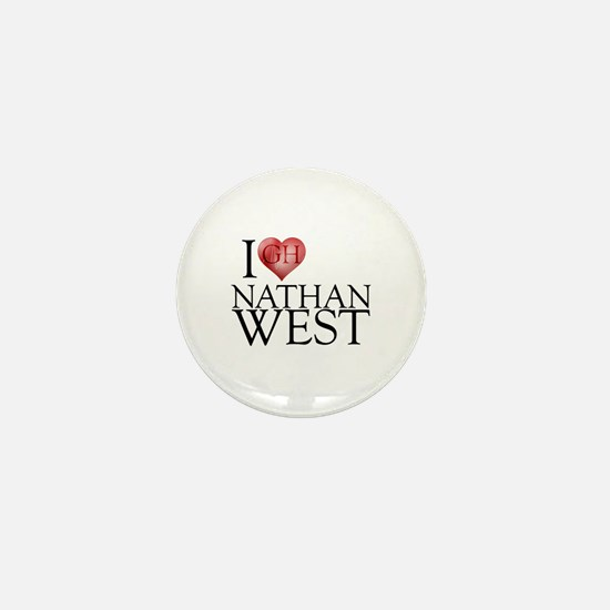 I Heart Nathan West Mini Button