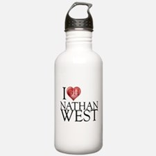 I Heart Nathan West Water Bottle
