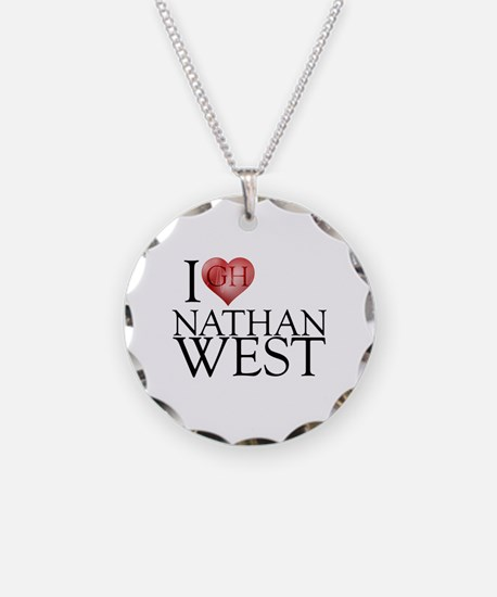 I Heart Nathan West Necklace Circle Charm