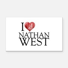 I Heart Nathan West Rectangle Car Magnet