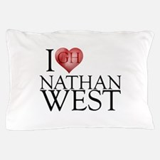 I Heart Nathan West Pillow Case