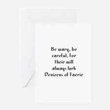 Be wary, be careful, for thei Greeting Cards (Pk o