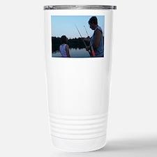 Cute Daddy daughter fishing Travel Mug