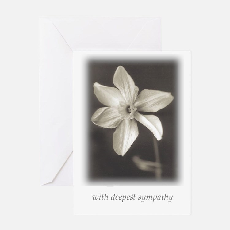 Narcissus-With Deepest Sympathy Card