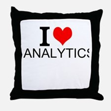 I Love Analytics Throw Pillow