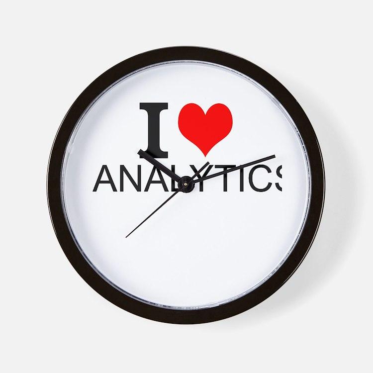 I Love Analytics Wall Clock