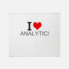 I Love Analytics Throw Blanket