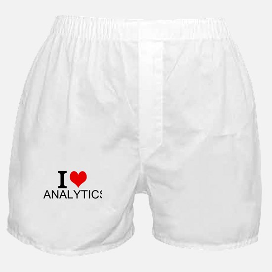 I Love Analytics Boxer Shorts