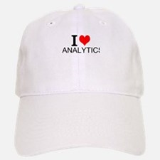 I Love Analytics Baseball Baseball Baseball Cap