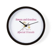 Rowan & Grandma - Friends Wall Clock