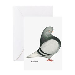 Silver Domestic Flight Greeting Card