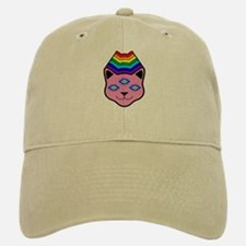 Rainbow Cat Face Baseball Baseball Cap