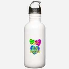 I Love Clog Dancing Water Bottle