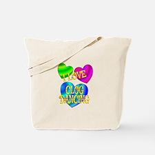 I Love Clog Dancing Tote Bag