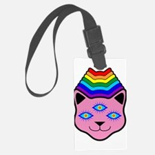 Rainbow Cat Face Luggage Tag