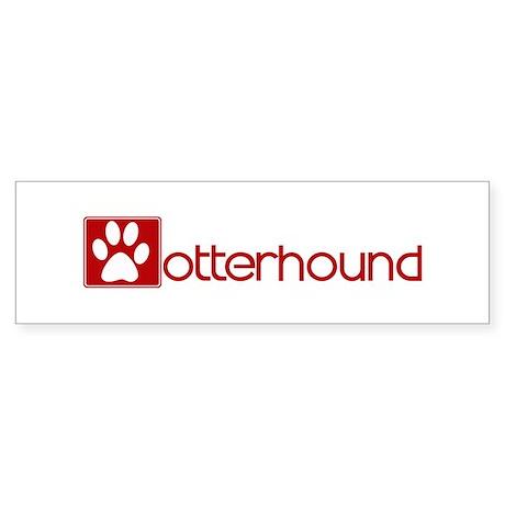 Otterhound (dog paw red) Bumper Sticker