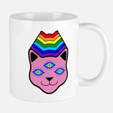 Rainbow Cat Face Mug