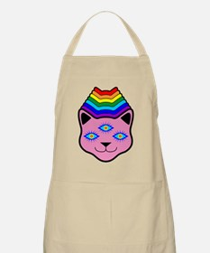 Rainbow Cat Face Apron