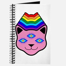 Rainbow Cat Face Journal