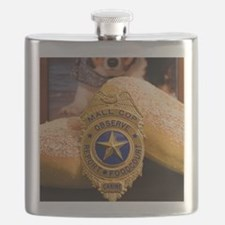Unique Police dog badge Flask