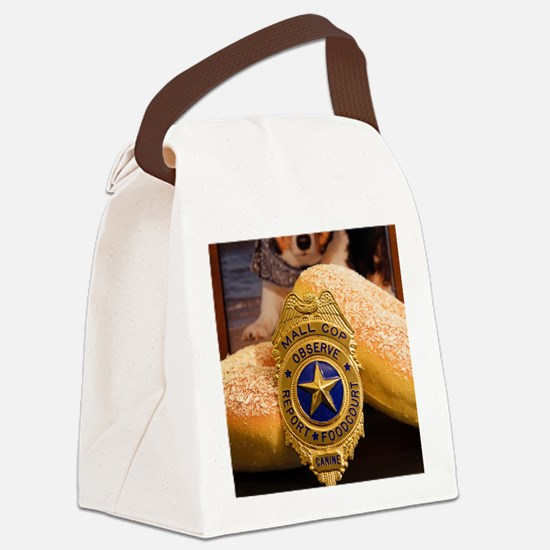 Funny Police dog badge Canvas Lunch Bag