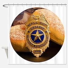 Cute Cop donut Shower Curtain