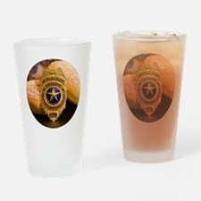Cute Security police Drinking Glass