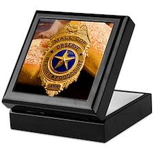 Cute Police dog badge Keepsake Box