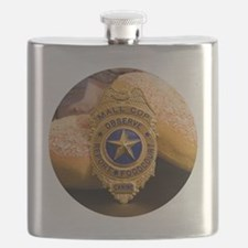 Cute Cop donut Flask