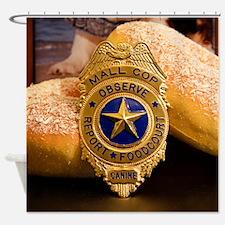 Unique Cop donut Shower Curtain