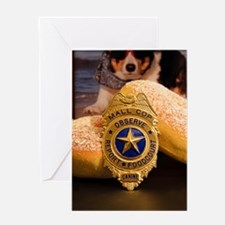 Funny Cop donut Greeting Card