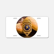Mall Cop Recognition Aluminum License Plate