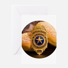 Mall Cop Recognition Greeting Cards