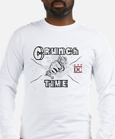 Crunch Time with DC Logo Long Sleeve T-Shirt