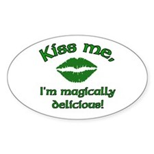 Kiss Me Oval Decal