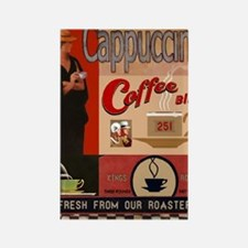 Cute Cappuccino Rectangle Magnet