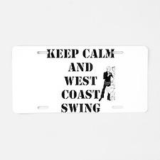 keep calm wcs Aluminum License Plate