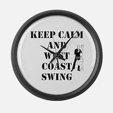 keep calm wcs Large Wall Clock