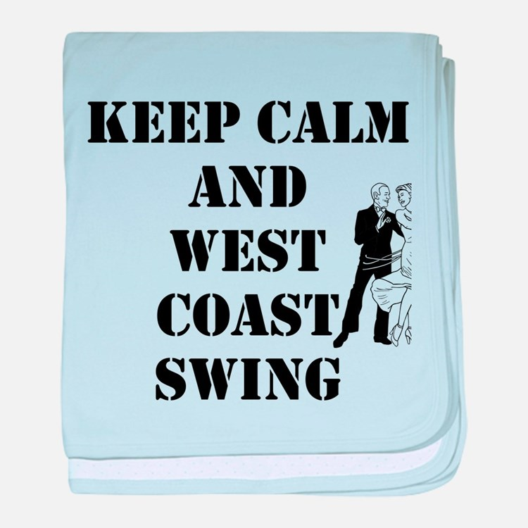keep calm wcs baby blanket