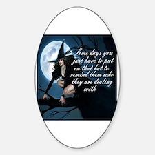 Cute Humor Sticker (Oval)