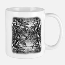Dragonfly Bubbles Black n White Mug