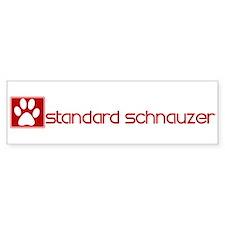 Standard Schnauzer (dog paw r Bumper Bumper Sticker